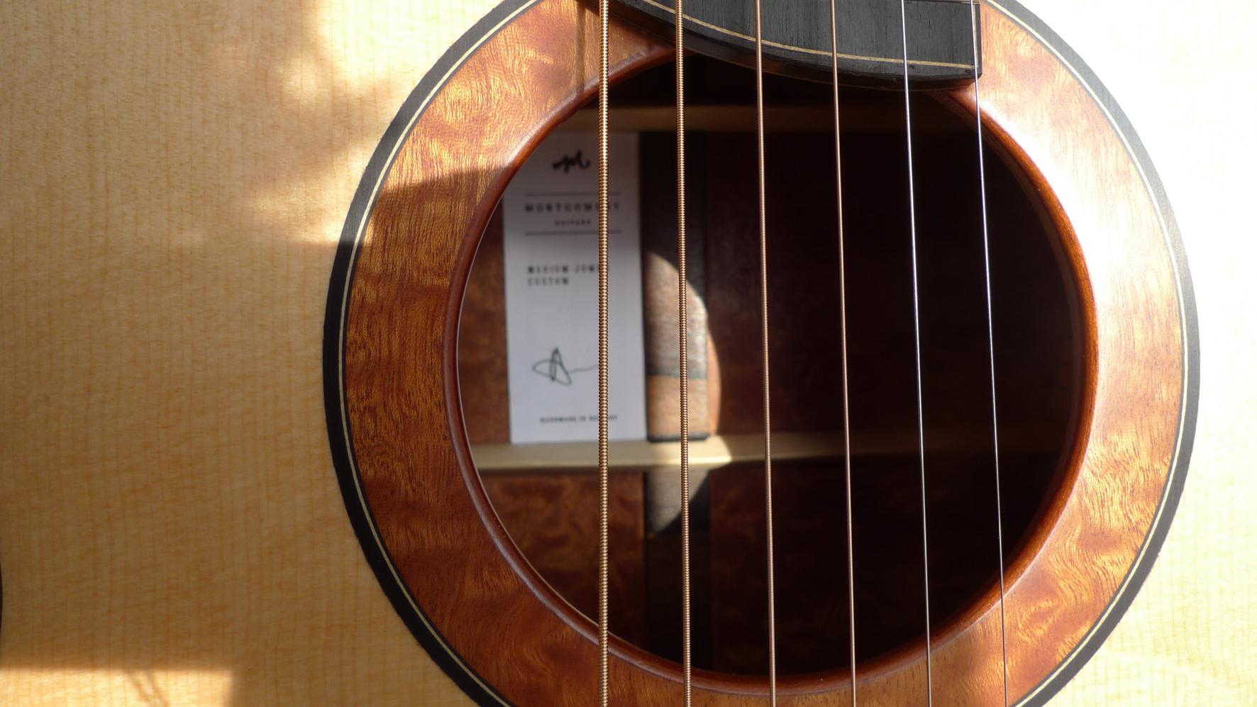 Montgomery guitars, rosette, inlay