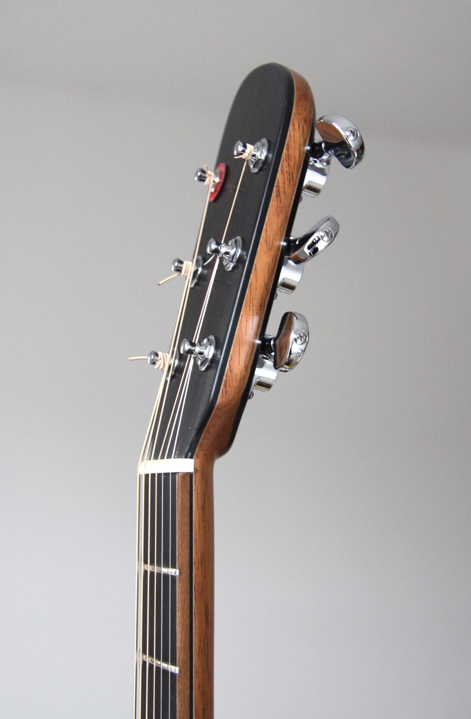 ebony, mahogany, headstock, montgomery guitars