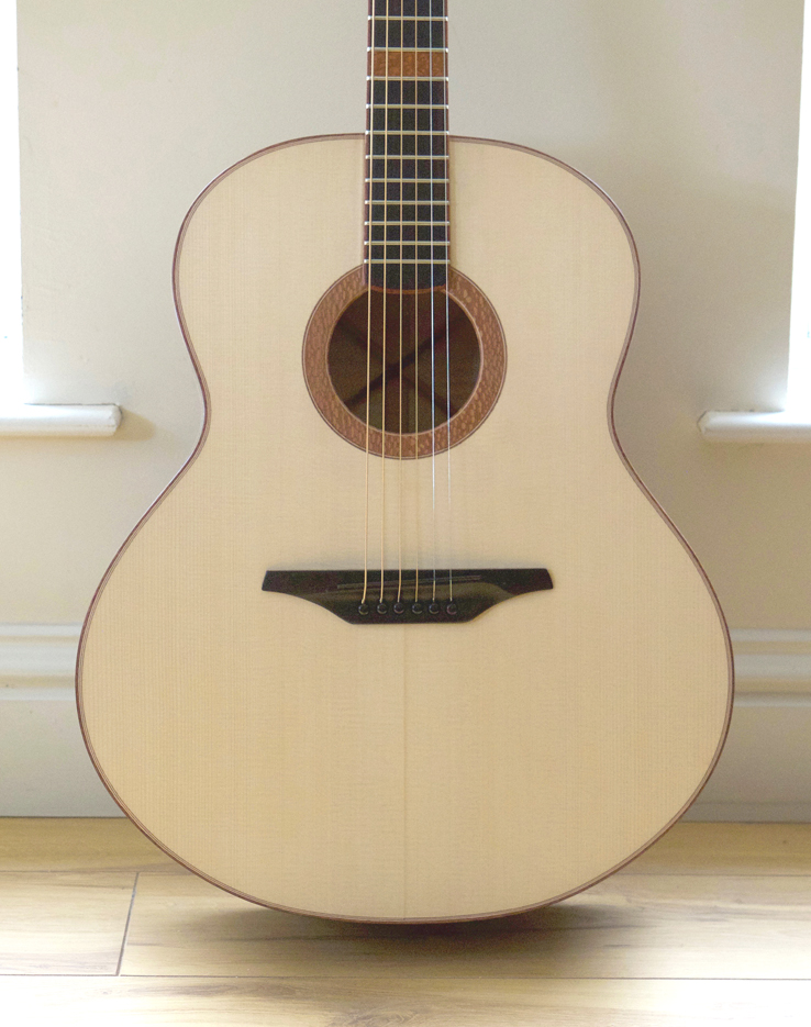 jumbo, acoustic guitar, handmade, luthier, uk, northern ireland, montgomery guitar