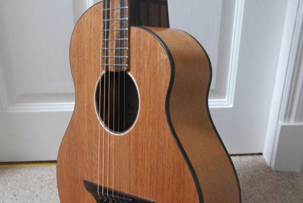 cutaway, acoustic, andreas montgomery, mahogany 12 fret, montgomery guitars