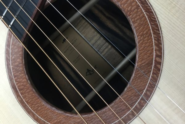 rosette, lacewood, acoustic guitar, montgomery guitar