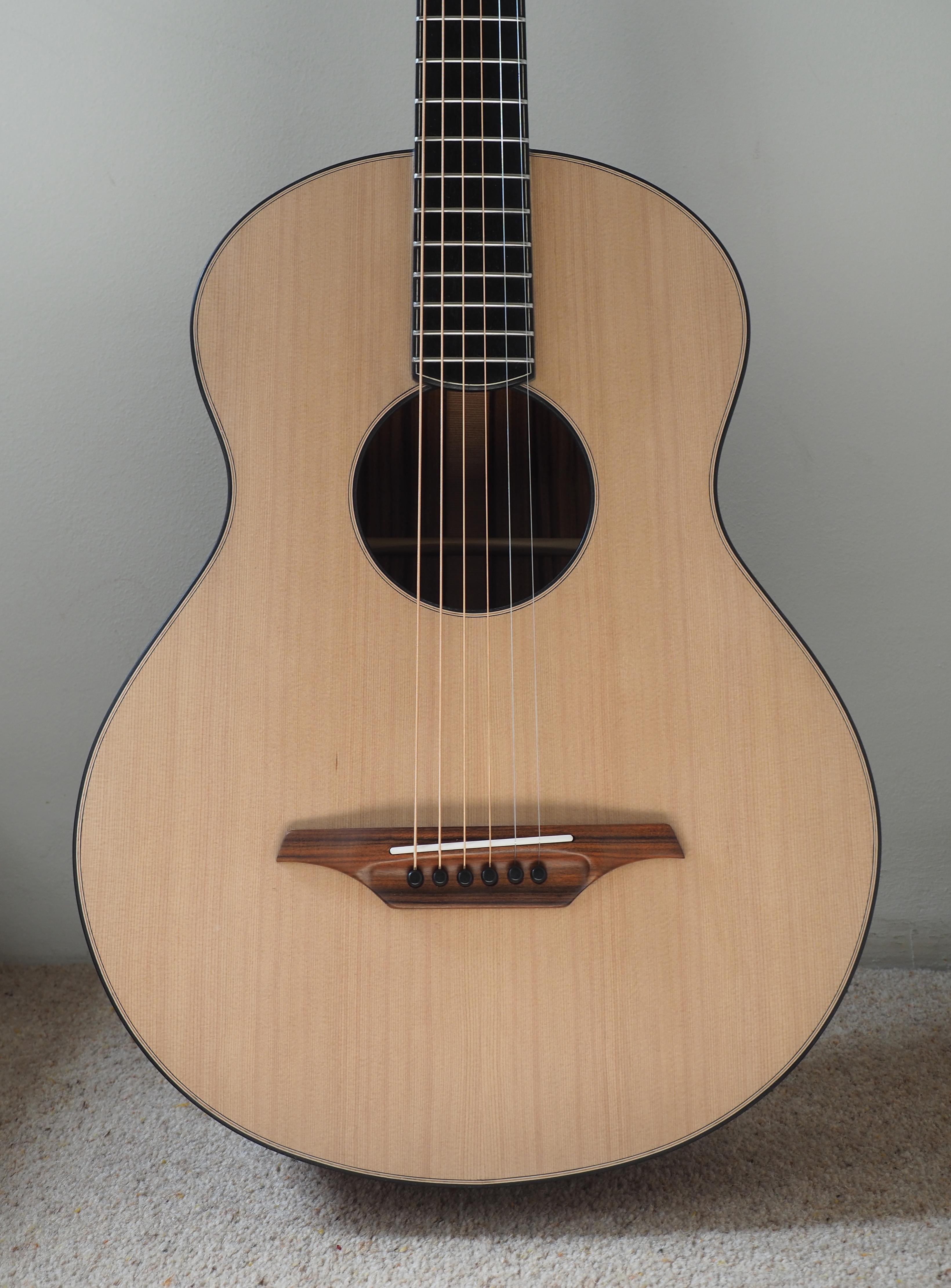 cedar top, santos rosewood, guitar, montgomery guitar, andreas montgomery