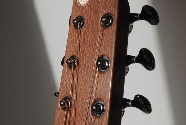 montgomery guitars, logo, inlay, gotoh, gotoh 510, headstock, zero fret