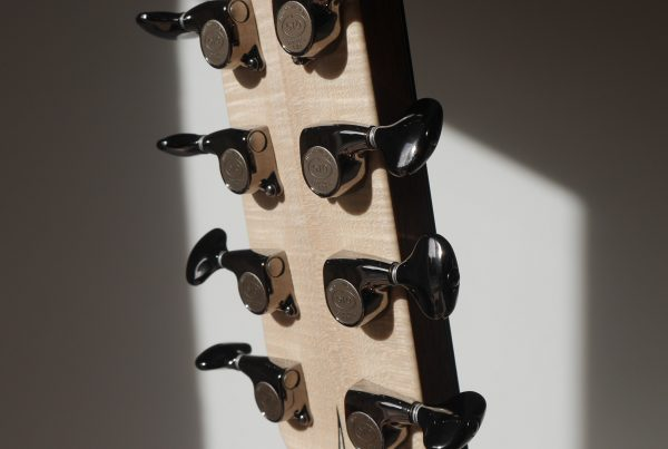 montgomery guitars,headstock, flammed maple, gotoh 510, machine heads,