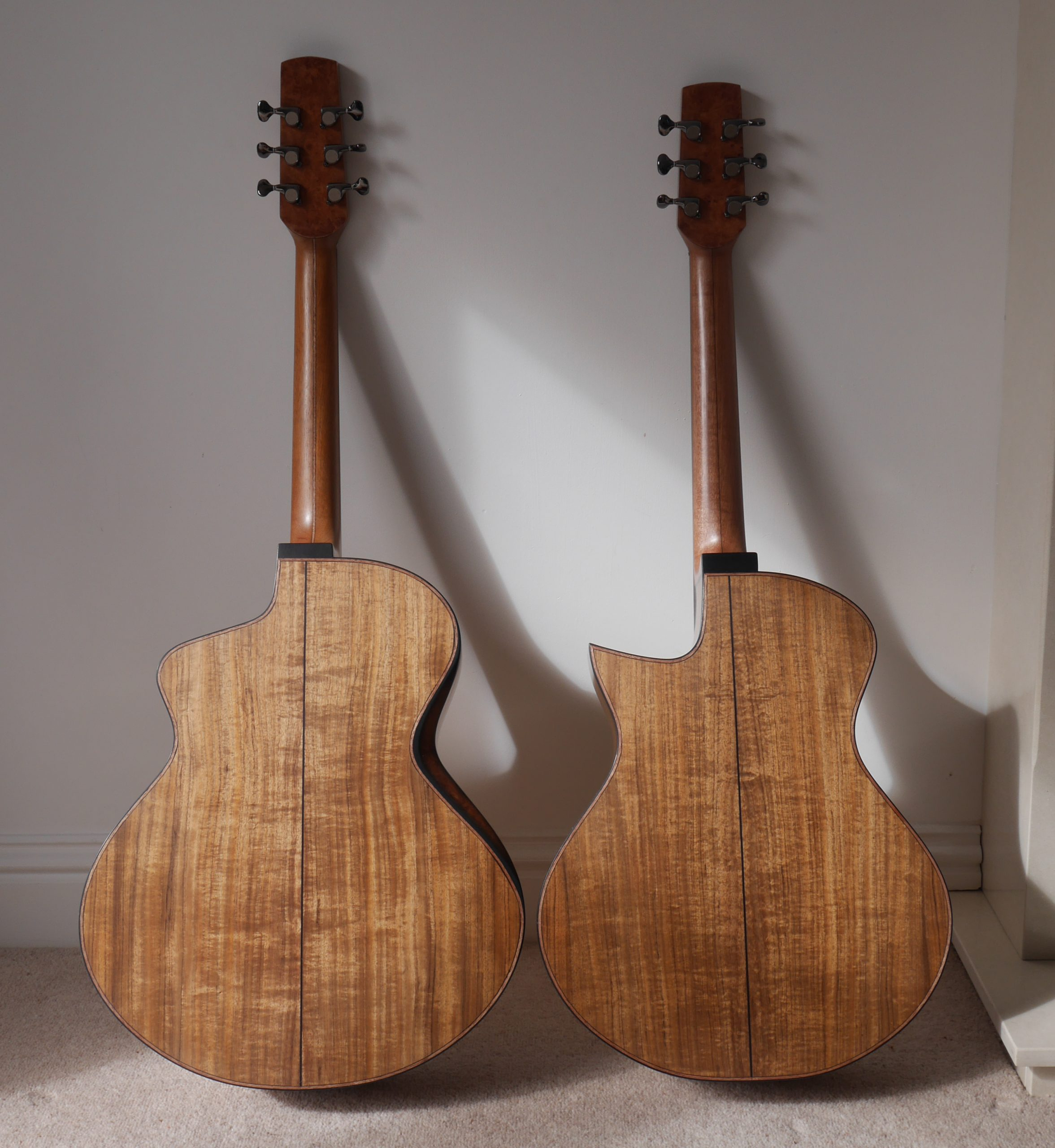 tasmanian blackwood, jumbo, grand concert, acoustic guitar, luthier, montgomery guitars, andreas Montgomery